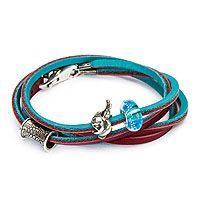 Trollbeads L5120-xx Leather Bracelet Turquoise Plum