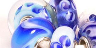 Trollbeads Fragment blue set